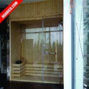 Phòng xông hơi khô gỗ kết hợp kính