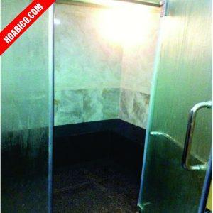 Phòng xông hơi ướt kính kết hợp xây