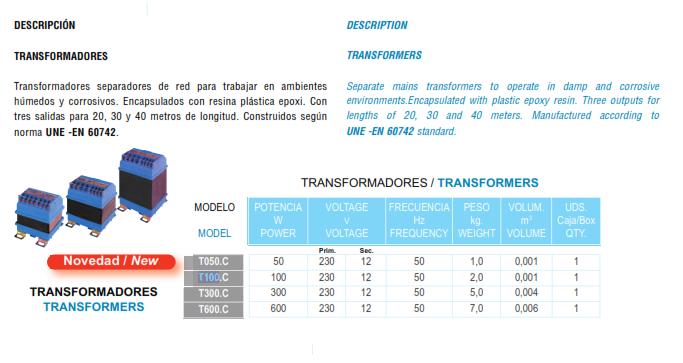 Thông số biến thế đổi nguồn Kripsol