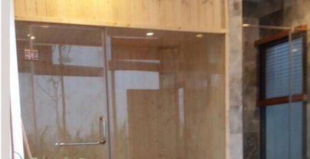 Phòng xông hơi khô gia đình gỗ kết hợp kính