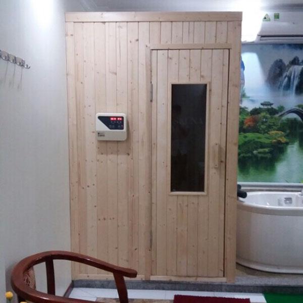 Phòng xông hơi khô gia đình hoàn toàn bằng gỗ