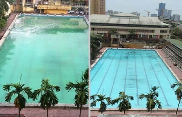 Phân biệt bể bơi sạch và bể bơi bẩn