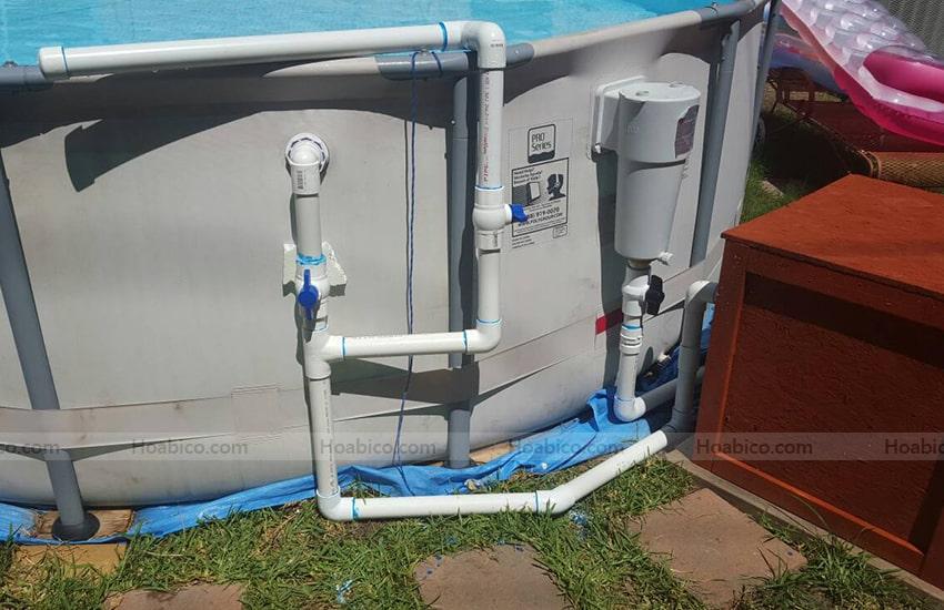 Ứng dụng sản phẩm khớp hút vệ sinh bể bơi SPS