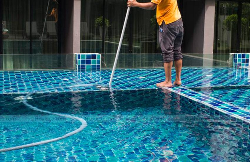 Ứng dụng sản phẩm khớp hút vệ sinh bể bơi SPS trong thực tế