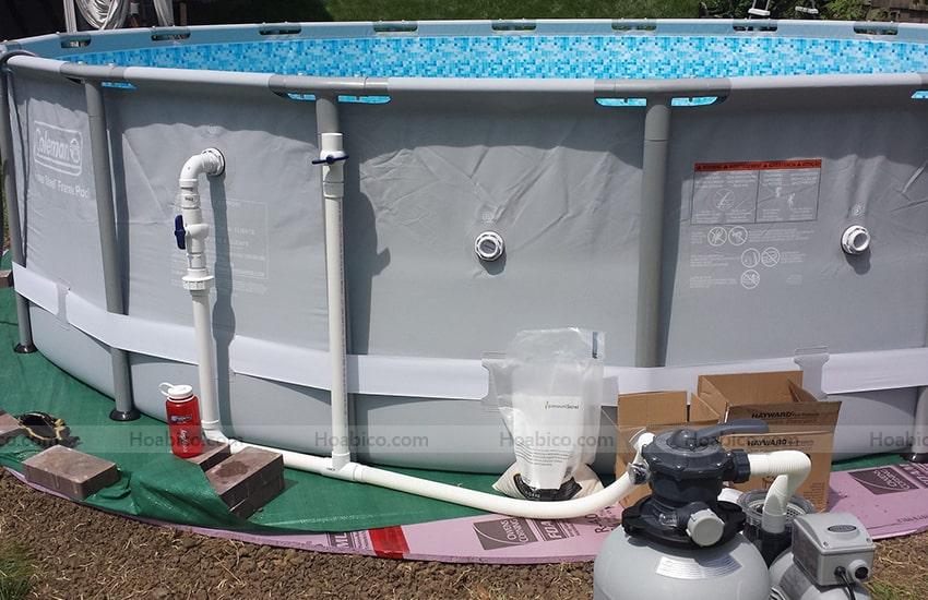 Ứng dụng sản phẩm khớp hút vệ sinh bể bơi SPS khác