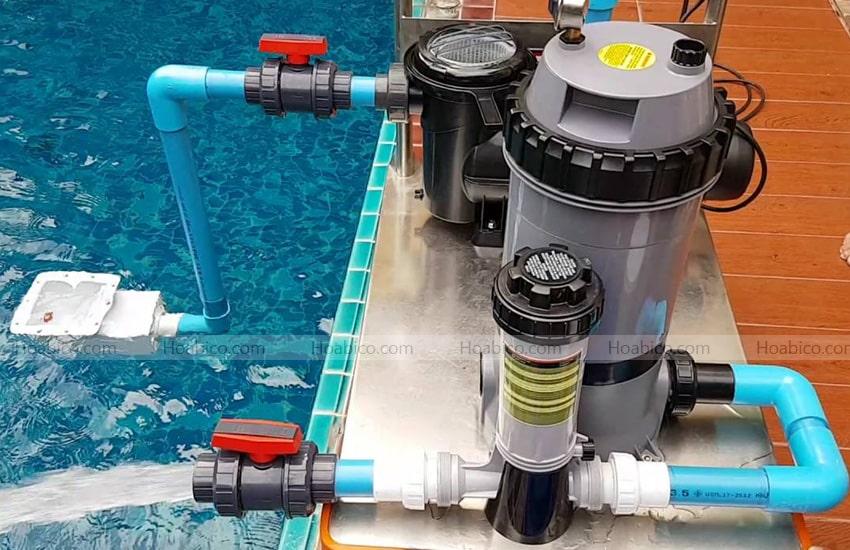 Lắp đặt bình lọc bể bơi Cartridge Emaux CF100