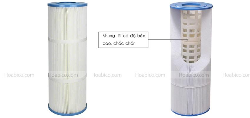 Thành phần cấu tạo bình lọc bể bơi Cartridge Emaux CF75