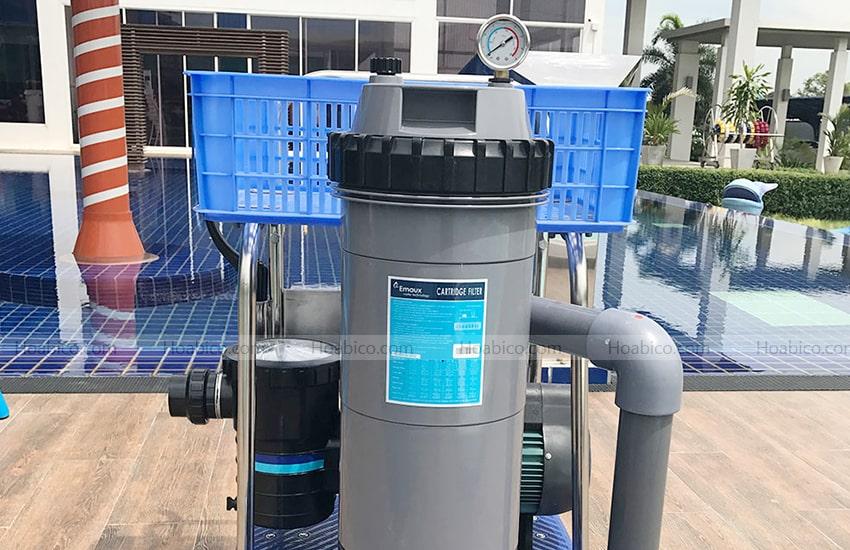 Ứng dụng sản phẩm bình lọc bể bơi Emaux CF75-CE