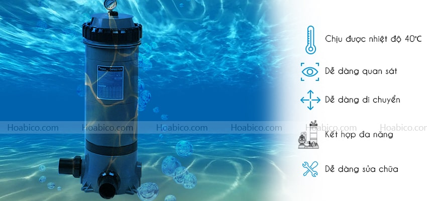 Đặc điểm của bình lọc bể bơi Emaux CF75-CE
