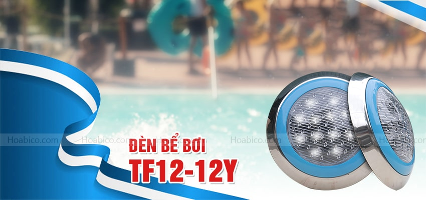 Đèn Led vàng trang trí bể bơi (12W) cao cấp - Hoabico