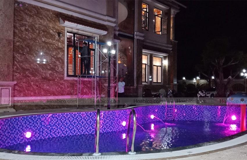 Tính năng đèn Led đổi màu trang trí bể bơi (18W)