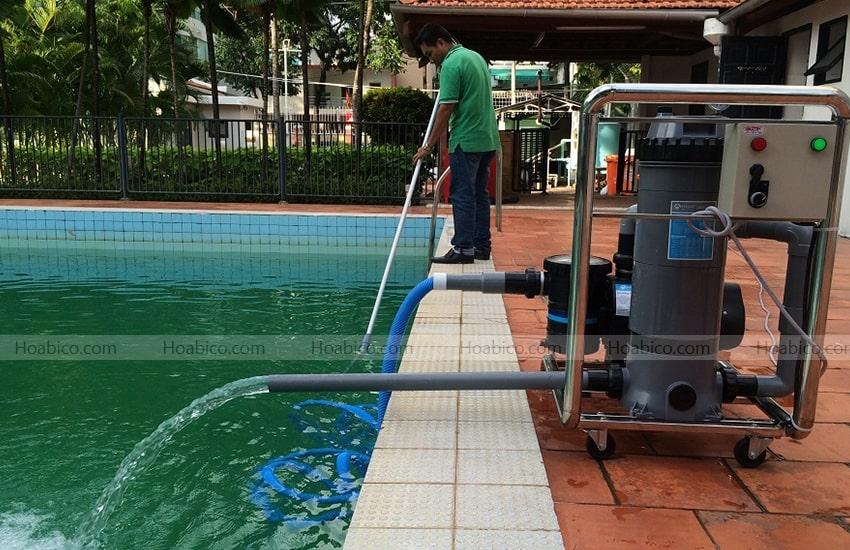 Hoàn thiện lắp đặt máy bơm bể bơi Emaux 3HP