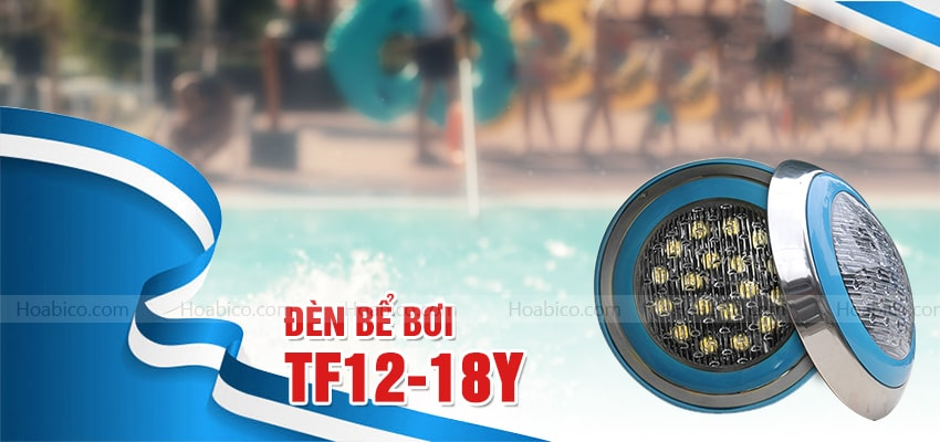Đèn Led màu vàng trang trí bể bơi (18W) -Hoabico