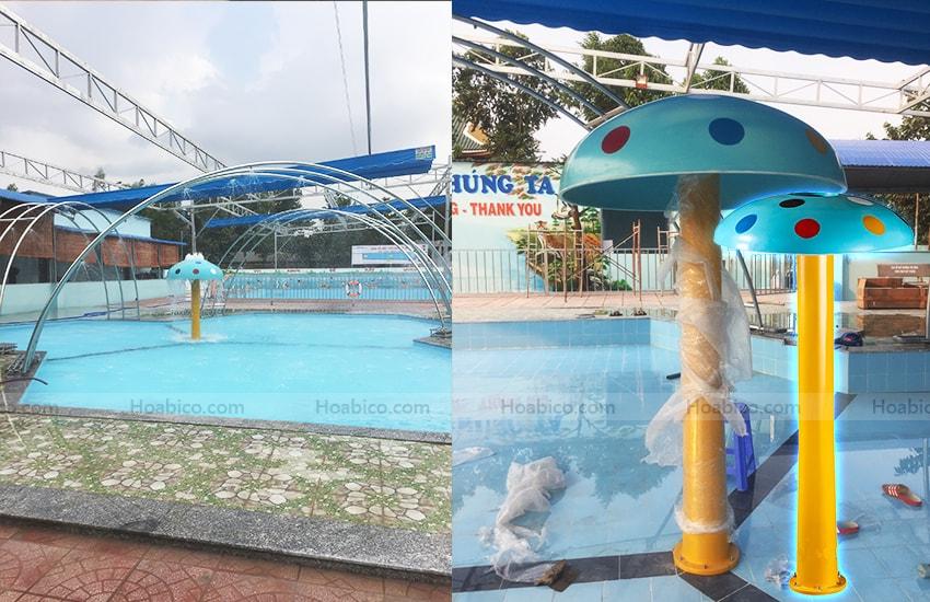 Hình ảnh cây nấm phun nước bể bơi- 2