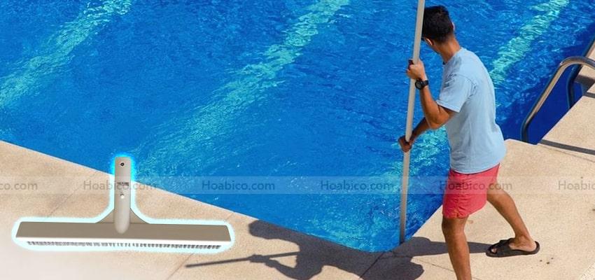 Cách sử dụng chổi cọ vệ sinh bể bơi Emaux