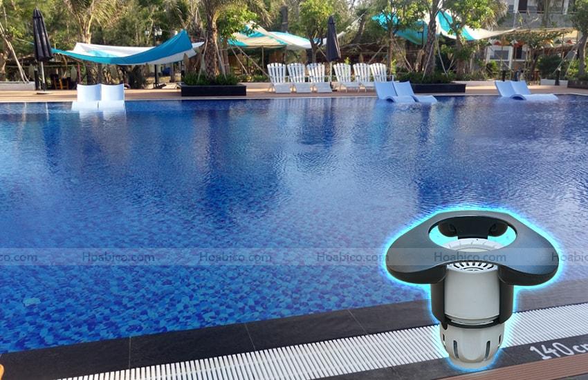 Lắp đặt hoàn thiện Skimmer thu rác mặt bể bơi SP2200FS