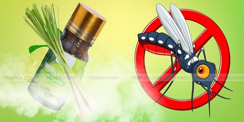 Tinh dầu chanh sả giúp đuổi muỗi và côn trùng
