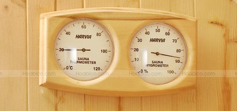 Hình ảnh nhiệt ẩm kế gỗ Harvia